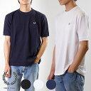 フレッドペリー FRED PERRY メンズ ピケ Tシャツ PIQUE T-SHIRT 半袖 無地 鹿の子 (F1674 SS19)【ts】【メール便可】
