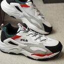 【即納】フィラ FILA レイ トレイサー RAY TRACER メンズ レディース ダッドスニーカー 靴 ホワイト/レッド (F5055-3133 SU19)