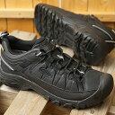 ショッピングブラ KEEN キーン トレッキングシューズ ターギー イーエックスピー ウォータープルーフ M TARGHEE EXP WP (1023023 SS20) メンズ アウトドア ハイキング 防水 靴 Black/Black ブラック系