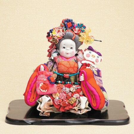 創作人形 椿よね『幸姫』飾り台・木札をつき