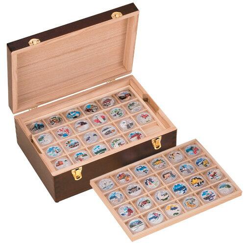 地方自治法施行60周年記念『千円カラー銀貨47種』マルチコレクションボックス付き【日本・名所】【未使用・貨幣・コイン・収納箱・箱】【通販・販売】
