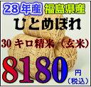 〜新米〜28年福島県ひとめぼれ玄米 30キロ
