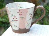 京焼 清水焼 花いろマグカップ ピンク 加春
