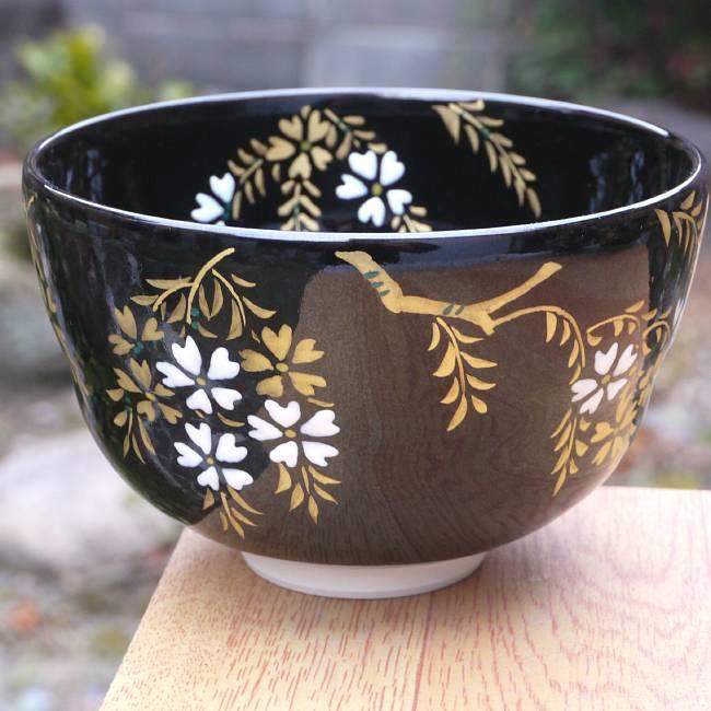 京焼 清水焼 夜桜抹茶茶碗 宝泉の商品画像