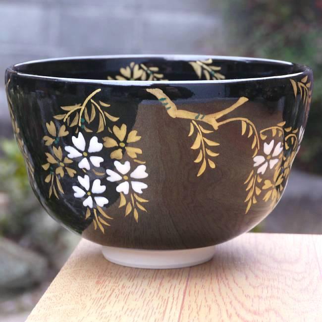 京焼 清水焼 夜桜抹茶茶碗 宝泉の紹介画像3