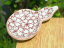京焼 清水焼 赤絵桜詰箸置き(ひさご)単品