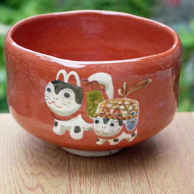 京焼   清水焼 赤楽茶碗 犬張り子 桂山
