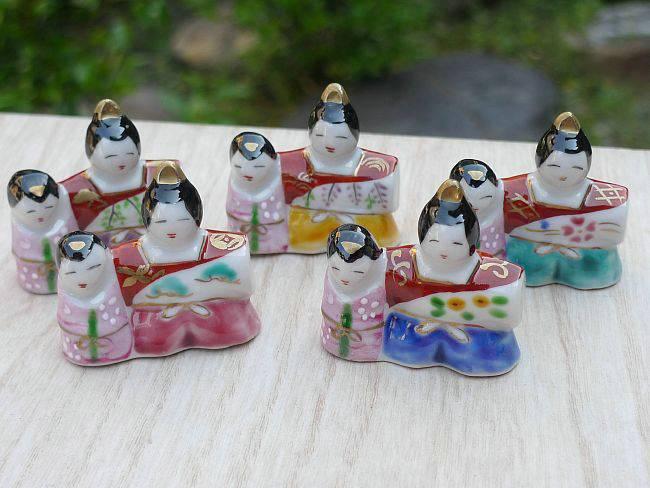京焼 清水焼 ひな錦箸置きセット 幸風