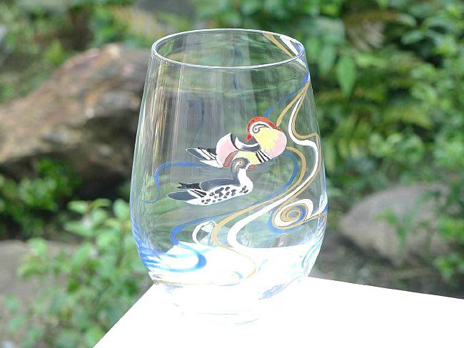 京焼 清水焼 鴛鴦流水タンブラーの商品画像