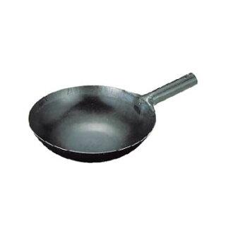 山田實驗室、 研究所鐵 repousse 炒鍋用一隻手 (1。2 毫米 () 24 釐米