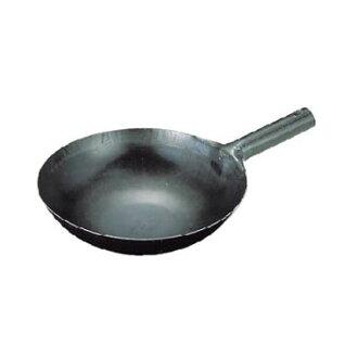 山田實驗室、 研究所鐵 repousse 27 釐米炒鍋用一隻手 (1.2 毫米)