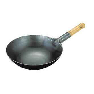 在日本只有鐵 repousse 在鍋山田工業製造商木處理炒鍋 33 釐米