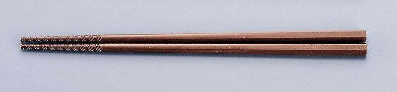 [TKG16-1645] トルネード箸 PM−105 21cm茶