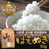 【】【山形県庄内産】特別栽培米 はえぬき5kg【smtb-k】【kb】