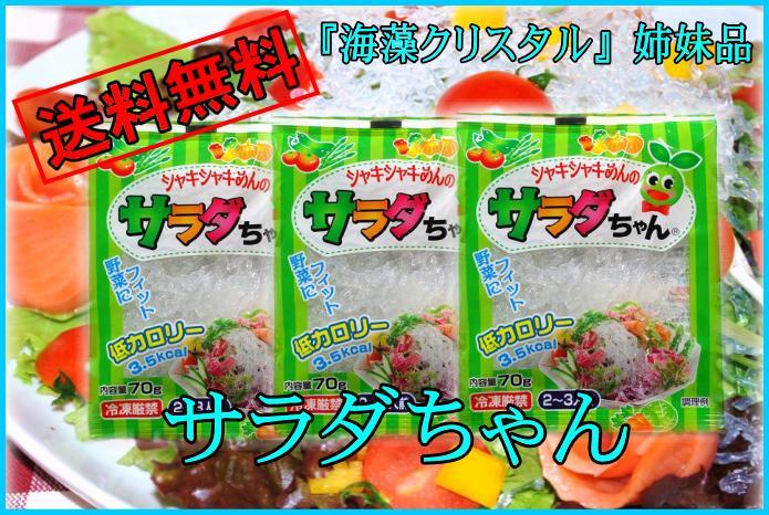 スーパーダイエット食品【送料無料】海藻クリスタル海藻麺(サラダちゃん)一部の地域のお客様に…...:shokuzai-market:10000305