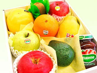 ... Fruit gift with lapping - tropical fruits available
