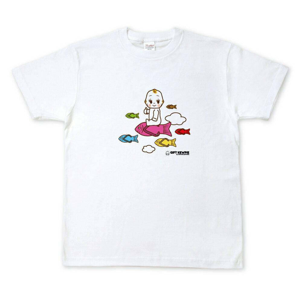 キューピーコラボ【限定Tシャツ】 【GIFT KEWPIE】【湘南】 空飛ぶキユーピーとお魚サンダル