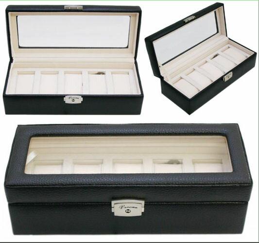 (送料無料)189994/牛革5本収納時計ケース/ウォッチ ボックス/コレクション ケース…...:shop-1616:10000467