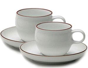 白山陶器G型モーニングカップ&ソーサーペアセット