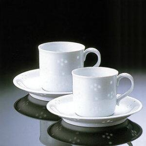白山陶器ほたる星華Q型コーヒーカップ&ソーサーペアセット