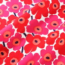 マリメッコ marimekko ファブリック生地 ミニウニッコ (001 レッド×ピンク) 10cm単位カット販売 066475 001 Cotton fabric MINI UNIKKO