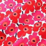 マリメッコ marimekko ファブリック生地 ミニウニッコ (001 レッド×ピンク) 10cm単位カット販売 066475 001 Cotton fabric MINI UN