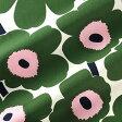 マリメッコ marimekko ファブリック生地 ピエニウニッコ (167 リリーホワイト×グリーン×ピンク) 10cm単位カット販売 065205 167 Cotton fabric PIENI UNIKKO II