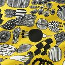 マリメッコ marimekko ファブリック生地 プータルフリン パルハート (210 イエロー×ブラック) 10cm単位カット販売 063310 210 Cotton fabric PUUTARHURIN PARHAAT