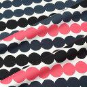 マリメッコ marimekko ファブリック生地 ラシィマット (193 ブラック×ピンク) 10cm単位カット販売 063280 193 Cotton fabric Rasymatto マリメッコ生地