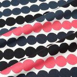 マリメッコ marimekko ファブリック生地 ラシィマット (193 ブラック×ピンク) 10cm単位カット販売 063280 193 Cotton fabric Rasymatto
