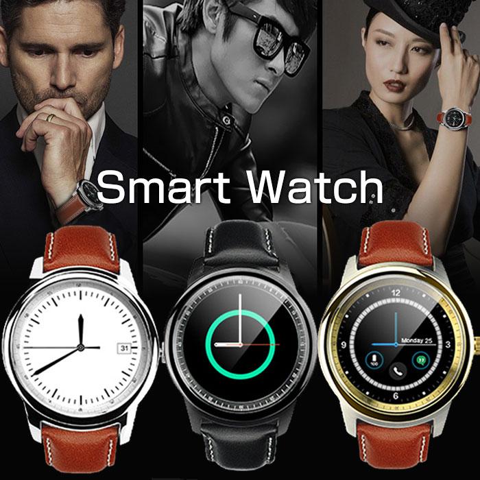 Bluetooth対応 スマートウォッチ アナログウォッチ インテリジェント ブルートゥース時計 ◇ALW-DM365