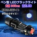 ペン型 LEDブラックライト 2000時間長寿命 ブルーライト 365nm 青光LED 高輝度100Lm 最大照明50m ◇ALW-TANK007