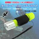 ダイビング LEDハンディライト マリンスポーツ アウトドア CREE社製LED 1000ルーメン 高輝度LED ◇ALW-XML-T6