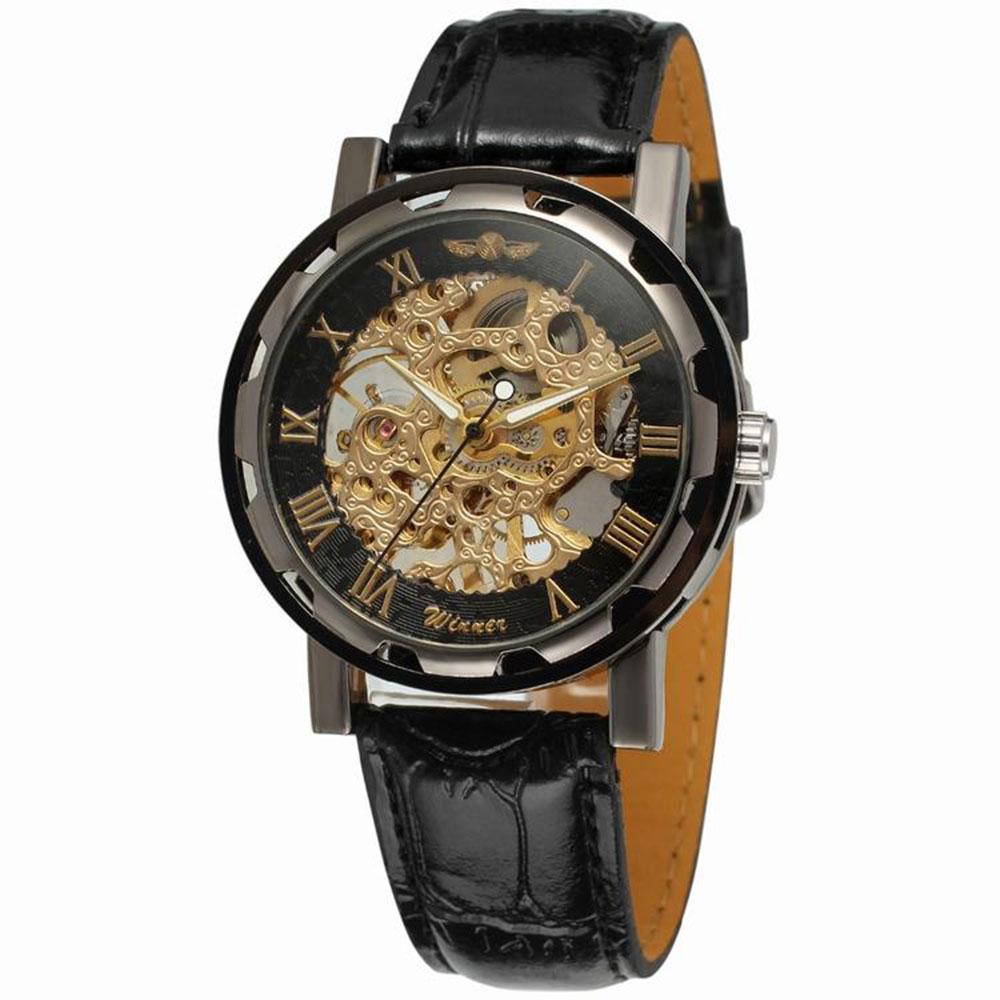 手巻き式 腕時計 ウォッチ PUレザー くり抜き...の商品画像