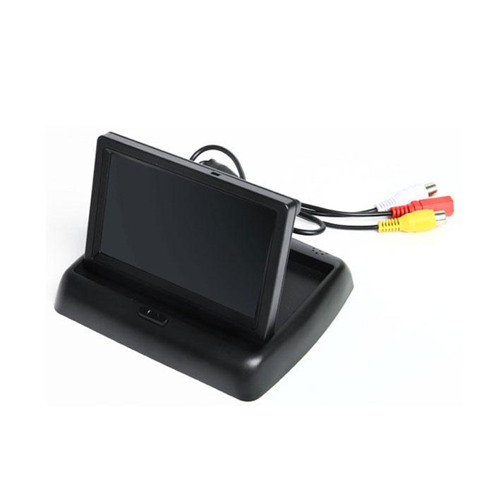 43インチ液晶オンダッシュモニターTFT-LCD折りたたみベース2V車用2系統映像入力バック機能対応