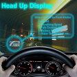OBD液晶 ディスプレイ HUD(Head Up Display)スピード、水と燃料などの消費量リマインダ機能付き OBDディスプレイ HUD/OBD2連動 ◇ALW-ASH100