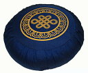 ヨガ フィットネス Boon Decor Meditation Cushion Zafu Lotus Enlightenment and Other Sacred Symbols (Eternal Knot Blue)ヨガ フィ..