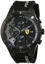 �ե��顼�� �ӻ��� ��� 0830262 Ferrari Men's 46mm Black Plastic Band & Case Quartz Analog Watch 830262�ե��顼�� �ӻ��� ��� 0830262