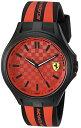 フェラーリ 腕時計 メンズ 0830281 Scuderia Ferrari Men's Quartz Plastic and Silicone Casual Watch, Color Black (Model: 0830281)フェラーリ 腕時計 メンズ 0830281