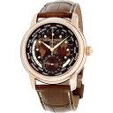 手錶 - フレデリックコンスタント フレデリック・コンスタント 腕時計 メンズ Frederique Constant Brown Dial Leather Strap Men's Watch FC-718BRWM4H4フレデリックコンスタント フレデリック・コンスタント 腕時計 メンズ