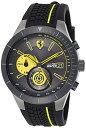 フェラーリ 腕時計 メンズ 0830342 Ferrari Red Rev Chronograph Black and Yellow Dial Men's Watch 830342フェラーリ 腕時計 メンズ 0830342