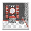 壁飾り インテリア タペストリー 壁掛けオブジェ 海外デザイン WRP-998 The Stupell Home Decor Collection Black, Red and White Vanity Bathroom Wall Plaque壁飾り インテリア タペストリー 壁掛けオブジェ 海外デザイン WRP-998