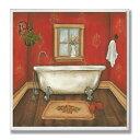 壁飾り インテリア タペストリー 壁掛けオブジェ 海外デザイン WRP-1003 The Stupell Home Decor Collection Red with Tub Bathroom Wall Plaque壁飾り インテリア タペストリー 壁掛けオブジェ 海外デザイン WRP-1003