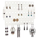 アクセサリスタンド ジュエリー FBA_EA-CL Stud Dangle Earring Holder Organizer Wall Mount Hanging Closet Jewelry Storage Rack for Women Girls Teen, Clear Acrylicアクセサリスタンド ジュエリー FBA_EA-CL