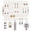 アクセサリスタンド ジュエリー EA-FR Angelynn's Stud Dangling Earring Holder Organizer Wall Mount Hanging Closet Jewelry Storage Rack for Women Girls Teen, Frostedアクセサリスタンド ジュエリー EA-FR