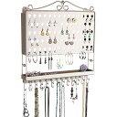 アクセサリスタンド ジュエリー MPEA-SN Angelynn's Jewelry Organizer Wall Mount Hanging Stud Earring Holder Organizer Display Necklace Storage Closet Rack, Satin Nickel Silverアクセサリスタンド ジュエリー MPEA-SN