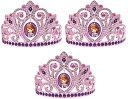 ちいさなプリンセス ソフィア ディズニージュニア Sofia the First Electroplated Princess Birthday Party Tiara Wearable Favour, Multi Color, 3 1/2 x 4 1/2 (Value 3-Pack)ちいさなプリンセス ソフィア ディズニージュニア