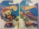 ホットウィール マテル ミニカー ホットウイール 2 (TWO) Hot Wheels: 2017 Street Beasts Dragon Blaster, Purple (Treasure Hunt) & 2017 Experimotors Emoticar 26/365, Red and Blueホットウィール マテル ミニカー ホットウイール