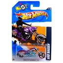 ホットウィール マテル ミニカー ホットウイール 【送料無料】2012 Hot Wheels HW City Works Bad Bagger MOTORCYCLE CHOPPER purple 7/10 #137/247ホットウィール マテル ミニカー ホットウイール
