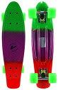 スタンダードスケートボード スケボー 海外モデル 直輸入 Velocity Boards Retro Cruiser Complete 22 Banana Skateboard w/ Aluminum Trucks, Fast ABEC-7 Bearings, Wheels Bushings (Marble - Green/Purplスタンダードスケートボード スケボー 海外モデル 直輸入
